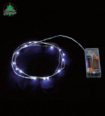G22050 HILO 1 MTS. 10 LED BLANCO. PILAS