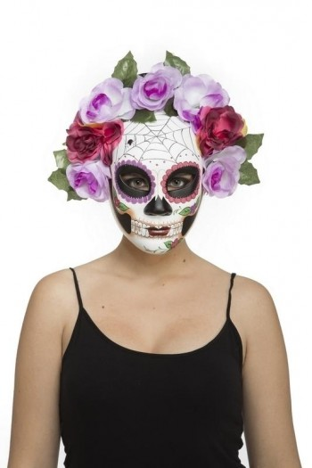 204581 1/2 Day of Dead Rigit Mask