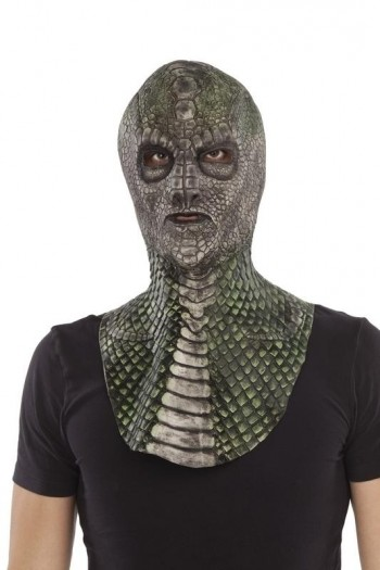 207993 Complete Reptilian Latex Mask
